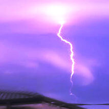 Lightning strikes during a storm can damage computers.