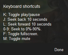 You Tube Shortcuts