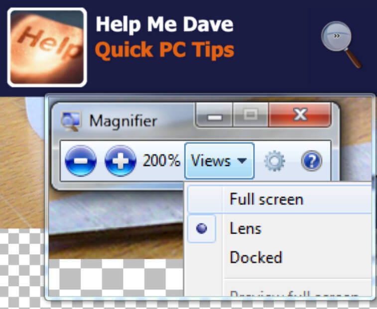 Quick PC Tips Magnifier